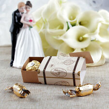 10x Vintage Style Mini Suitcase Favor Box Travel Themed Wedding Sweet Candy Box