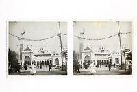Francia Exposición Colonial De Marsella 1906 Pabellón de Argelia Foto Estéreo