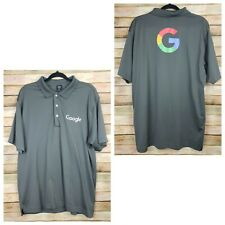 Page & Tuttle Mens Google Polo Shirt XL Gray Golf Short Sleeve Logo