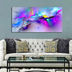 Modern Multicoloured Abstract Art Prints Poster Wall Hanging Decor Gift