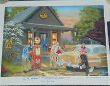 ELVIS BAND PRINT SUN RECORDS -24 x18 - SIGNED BY SCOTTY MOORE,  D J FONTANA