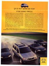 2001 MAZDA Tribute ES-V6 Original Print AD - Gray car photo French Canada SUV