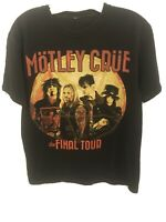 Motley Crue The Final Tour Heavy Metal Rock Band Graphic T-Shirt M Nice fade Htf