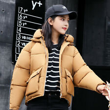 Lady Winter Hooded Coat Thick Padded Puffer Jacket Quilted Cute Outwear Warm new