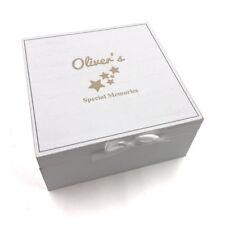 Personalised Vintage Style Baby wooden Memories Keepsake Box CG1309