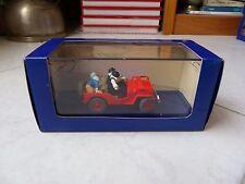 Jeep Rouge Wilys + CJ2ATintin au pays de l'or noir 1950 n°7 1/43 miniature