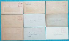 1970's Malta Collection /lot of 9 Covers MULTIVALUE MACHINE CANCELS