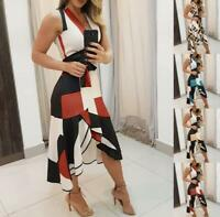Womens Long Dresses chunky sexy Slim Home Party Loose Ladies Maxi Wrap Dresses