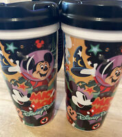 Set 2 Disney World Parks Mickey Mouse Club Refillable Whirley Drink Works Cups