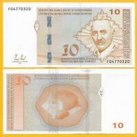 Bosnia-Herzegovina 10 Maraka p-81 2012 UNC Banknote