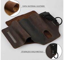 Custom leather Belt Sheath Folding Knife  Flashlight & Pen Holster