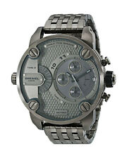 Diesel DZ7263 Little Daddy Ion Gunmetal Grey Dual Time 51MM BRAND NEW AUTHENTIC
