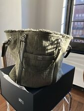 848927370bb47f NWT NIB Chanel Spring/Summer 2018 Double Face Shopper Tote in Khaki/Green