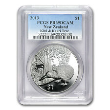 2013 1 oz Proof Silver New Zealand Treasures $1 Kiwi Coin - PR-69 PCGS