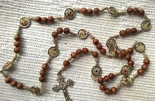 Stations of the Cross rosary rosaries made of wood from Medjugorje 22.8 inc