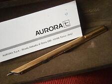 AURORA THESI PENNA A SFERA VERMEIL IN ARGENTO 925 e ORO +GAR +SCATOLA Silver Pen