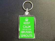 KEEP CALM AND EAT YOUR BRUSSEL SPROUTS KEYRING GIFT BAG TAG BIRTHDAY GIFT