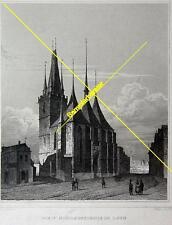 Stich: Die St. Nicolauskiche in Laun um 1880 (24864)