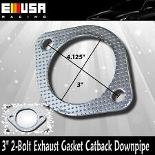 """3"""" 2-Bolt Exhaust Gasket Catback Downpipe Cat Test Pipe 2 bolts"""