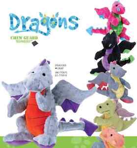 GoDog Dragons Dog Toys, Two sizes, Assorted Colors