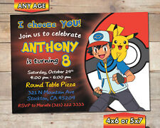 POKEMON Personalised Birthday Party Invitations A6 envelopes Gamer go geek d2