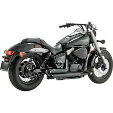 A41 Black Staggered Exhaust System for Honda Shadow Spirit VT750