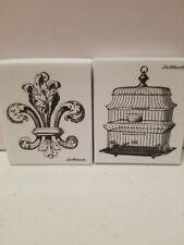 New La Blanche Silicone Rubber Stamp flur de le and bird cage