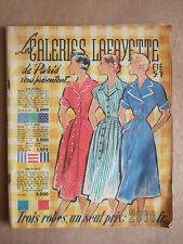CATALOGUE GALERIES LAFAYETTE ETE 1951 MODE ORFEVRERIE MERCERIE VERRERIE MENAGE