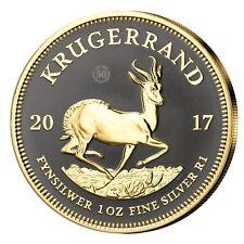 Südafrika 1 oz Silber 2017 Krügerrand mit Ruthenium + Goldauftrag