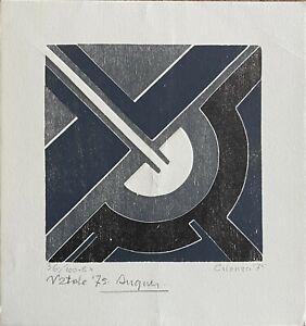 Giuseppe Calonaci litografia Composizione Natale '75 24x24 firmata numerata