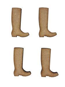 20x Welly Wellies Boots 3cm Wood Craft Embelishments Laser Cut Shape MDF