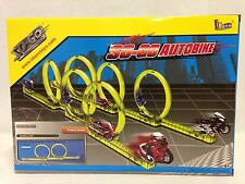 Spin Go, Mini Stunt Auto Bike, Racing Track Set, w/2 Set Bike, Kid Idoon Toys
