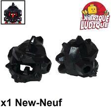 Lego - 1x Minifig casque helmet Spiked nexo knights ash noir/black 22425 NEUF