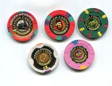 5 Dif Station Casino K.C. Mo.Gambling Chips 1997-2001 Later Became Ameristar