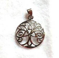 Lebensbaum Anhänger mit keltisch Knoten 925 Sterling Silber Neu * Celtic Pendant