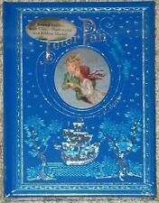 PETER PAN ~ GORGEOUS LEATHER GIFT EDITION by JM BARRIE ~ ILLUS HC w/FAIRY DUST!