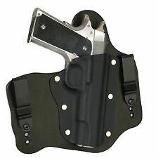 "FoxX Leather & Kydex IWB Hybrid Holster Colt 1911 5"" Government -No rail Black"