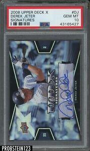 2008 Upper Deck X Signatures Derek Jeter Yankees HOF AUTO PSA 10 POP 1 ONLY