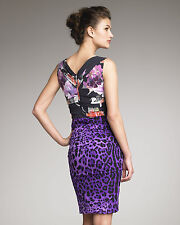 ICONIC SULTRY GORGE 2DIE4 Dolce&Gabbana draped FLORAL/ANIMAL print Silk dress