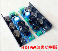 Assembeld Hood 1969 MJE15024/25 Class A power amp board 25W 2 CH amplifier