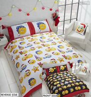 Rapport Multi Christmas Emoji Icons Fully Reversible Duvet Quilt Cover All Sizes