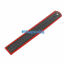 New Stainless Steel Metal Pocket Measuring Ruler Double Sided SAE 20cm & Metric