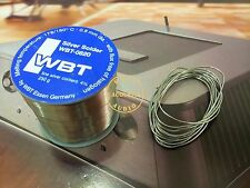 5Feet OF WBT 4% Silver Solder Wire WBT-0820 0.8mm Diameter Made in Germany hifi