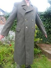 RUSSIAN SOVIET ARMY CCCP SOLDIERS ORIGINAL GREEN KHAKI COAT VERY HEAVY 90% WOOL
