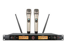 Professional Wireless Microphone System UHF 200 Channels PLL Cordless Mike Set