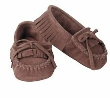 Mud Pie Forest Friends Baby Boy Brown Genuine Leather Moccasins Shoes 153A008