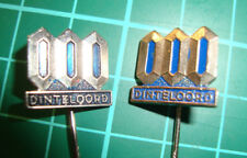 Dinteloord 2pcs - stick pin badge lapel Dutch speldje 60's anstecknadel