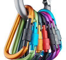 2pcs outdoor Multi Colors Safety Buckle Aluminum Carabiner Key Chain