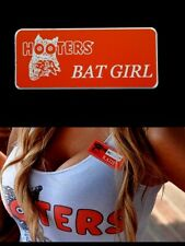 Bat Girl Hooters Uniform Name Tag Pin Badge lingerie extra sexy Cross Dresser