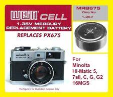 Per Minolta Hi-Matic - Batteria Zinco/Aria WeinCell MRB 675 - 1,35 V
